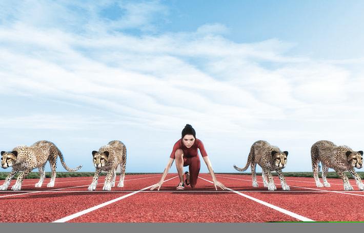 versenyfutás a versenytársakkal