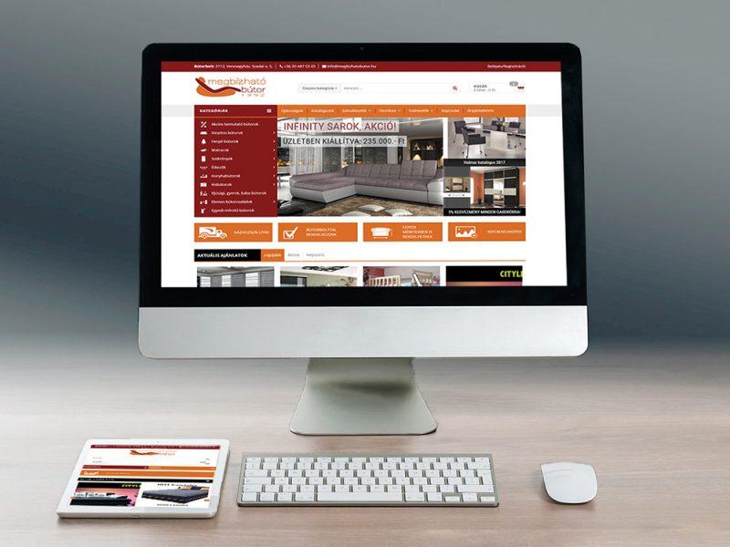 megbízhatóbútor webáruház fejlesztés