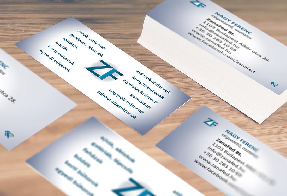 asztalos névjegykártya tervezés