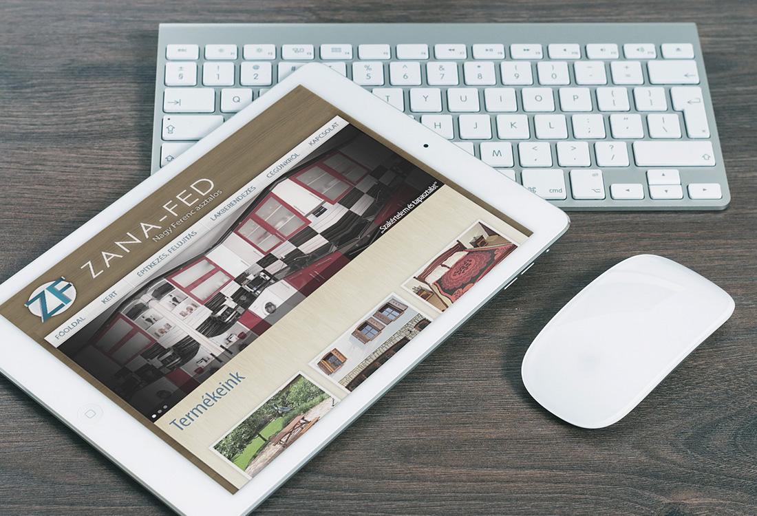 asztalos weboldal tableten